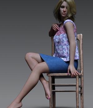 dForce Just Casual for Business Casual Outfit 3D Figure Assets PsychoGinger