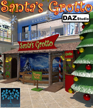 Santa's Grotto for Daz Studio 3D Models BlueTreeStudio
