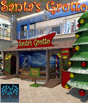 Santa's Grotto for Poser 3D Models BlueTreeStudio