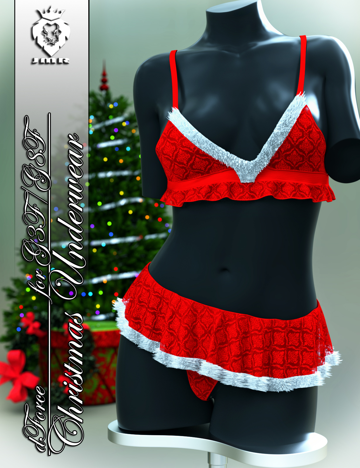 JMR dForce Christmas Underwear for G3F and G8F