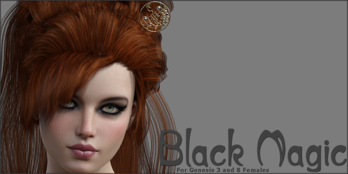Black Magic Hair Pins for G3F and G8F