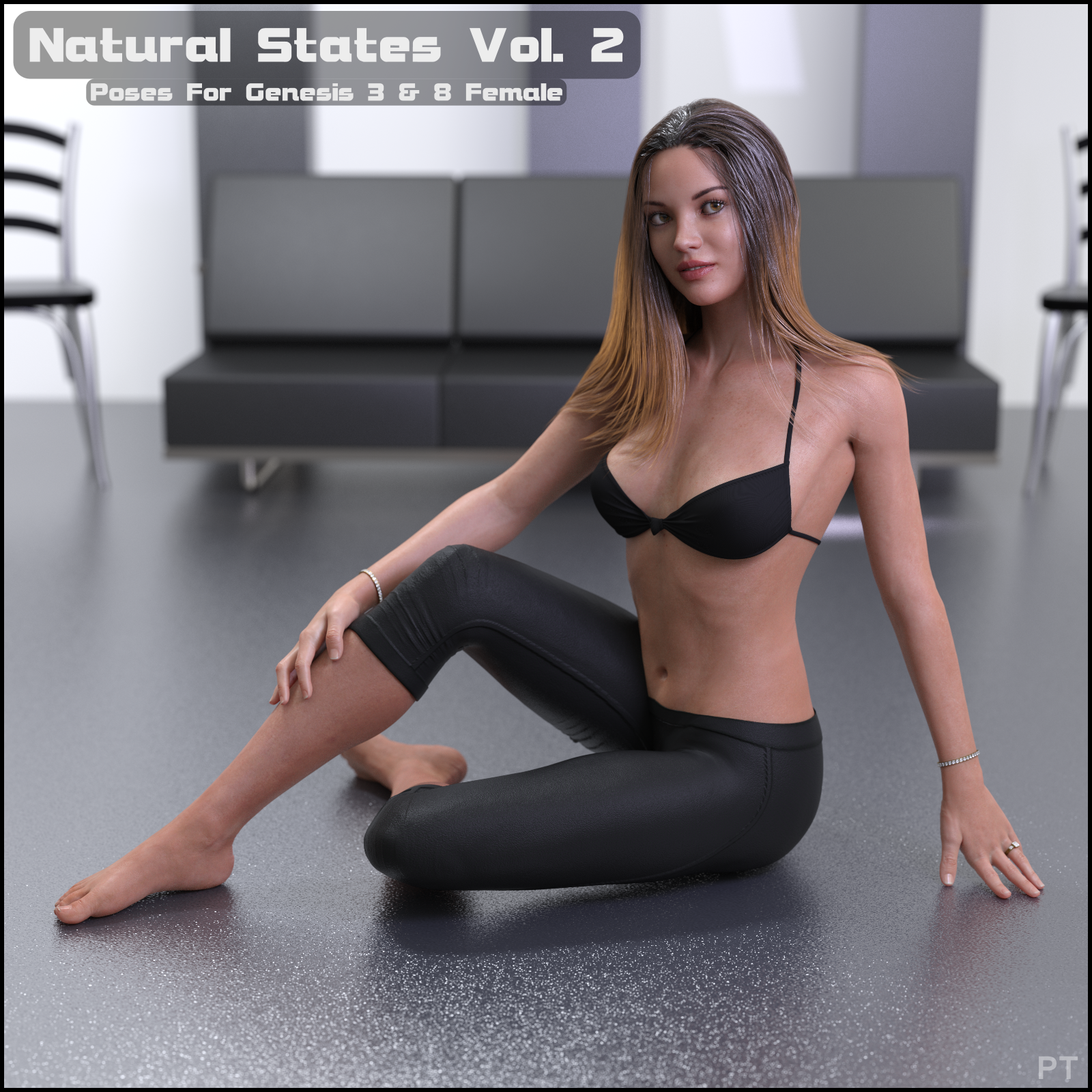 Paper Tiger's Natural States Poses for Genesis 3 and 8 Females Volume 2