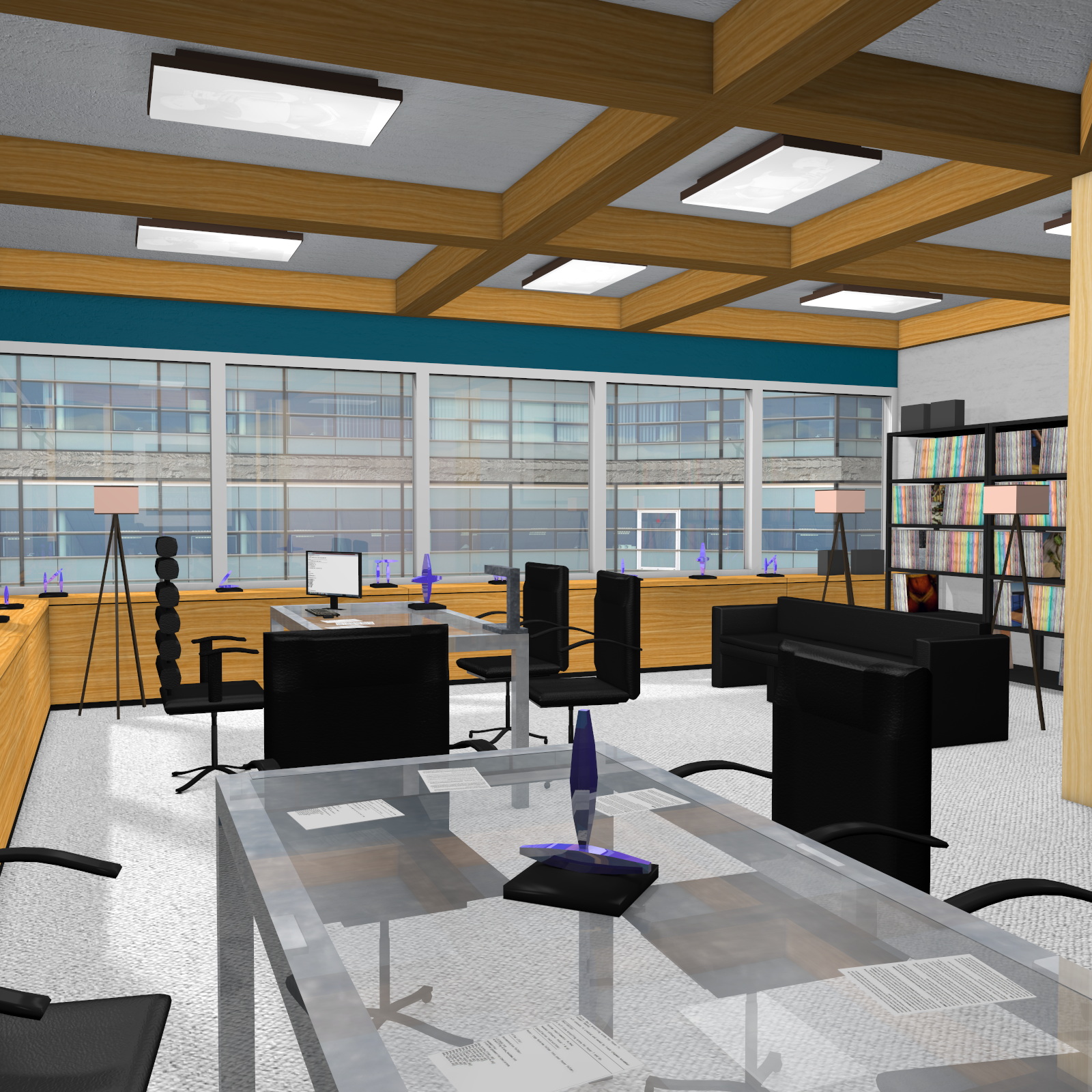 High End Office for Poser 7+ by DexPac