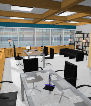 High End Office for Poser 7+ 3D Models DexPac
