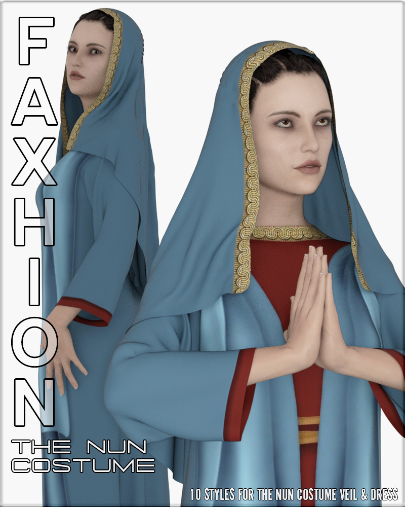 Faxhion - dForce Nun Costume by vyktohria