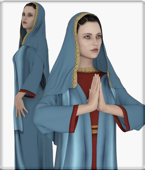 Faxhion - dForce Nun Costume 3D Figure Assets vyktohria