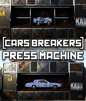 Car Breakers: Cars Press Machine for DS Iray 3D Models powerage