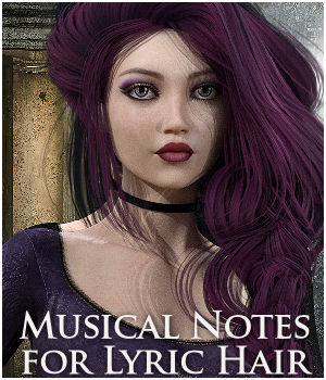 Musical Notes for Lyric Hair Expansion 3D Figure Assets Propschick