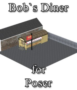 Bobs Diner - for Poser  3D Models VanishingPoint