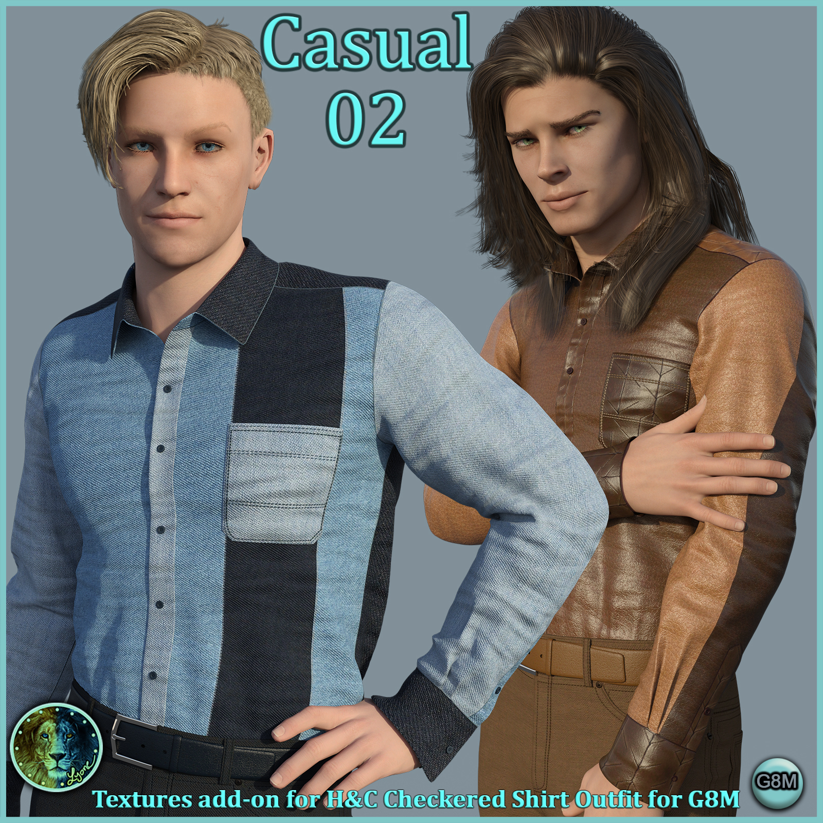 Casual 02 for H and C Checkered Shirt Outfit for G8M