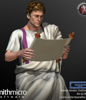 Roman Senator Clothing Set for the G2 Males (Great Rulers Series) Legacy Discounted Content Poser_Software
