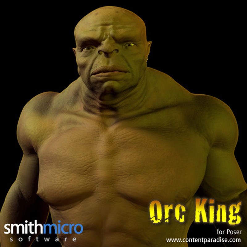 Orc King Figure Pack by Poser_Software