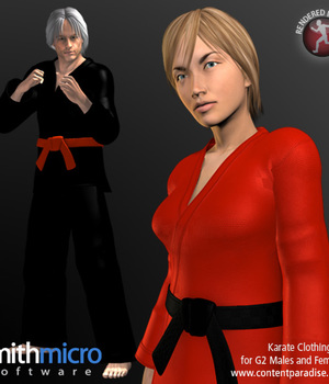 Karate Clothing Set for G2 Males & G2 Females Legacy Discounted Content Smith_Micro