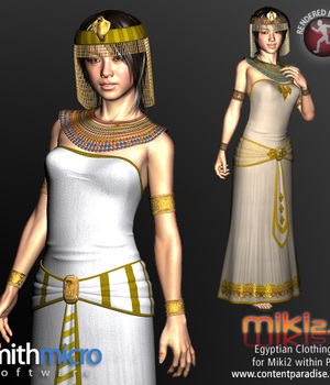 Egyptian Clothing Set for Miki 2.0 Legacy Discounted Content Smith_Micro