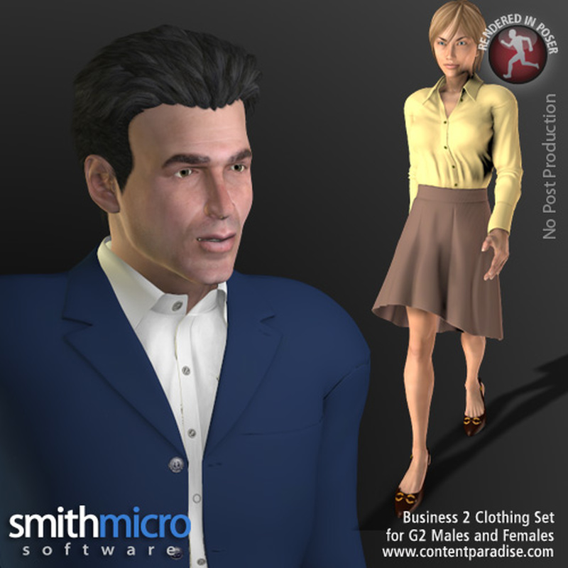 Business Clothing #2 for G2 Figures (Career Series)