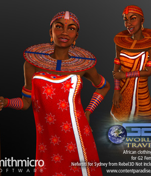 African Clothing Set for G2 Females (World Travel Series) Legacy Discounted Content Poser_Software