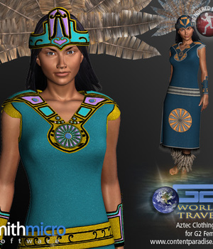 Aztec Clothing Set for G2 Females (World Travel Series) Legacy Discounted Content Poser_Software