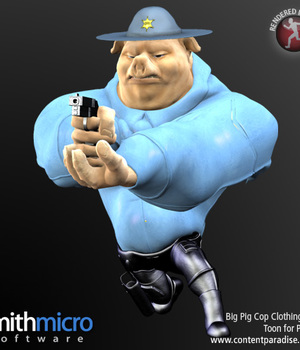 Big Pig Toon Pig Cop Clothing Set Legacy Discounted Content Poser_Software