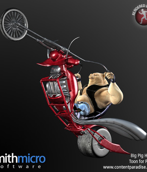 Big Pig Toon Pig Hawg Motorcycle Legacy Discounted Content Smith_Micro