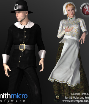 Colonial Clothing for G2 Figures (Time Travel Series) Legacy Discounted Content Poser_Software
