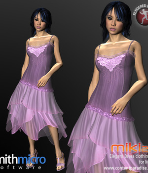 Elegant Dress for Miki 2.0 Legacy Discounted Content Smith_Micro