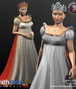 French Empress Clothing Set for G2 Females (Time Travel Series) Legacy Discounted Content Poser_Software