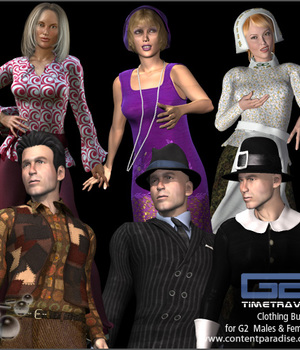 G2 Male & G2 Female Time Travel Clothing Super Bundle Legacy Discounted Content Smith_Micro