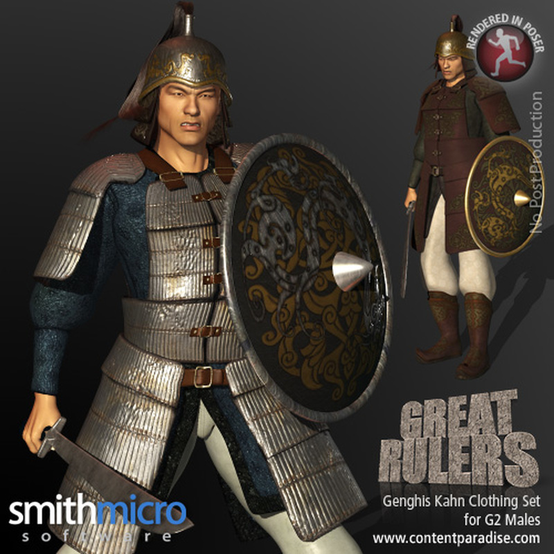 Genghis Khan Clothing Set for the G2 Males (Great Rulers)