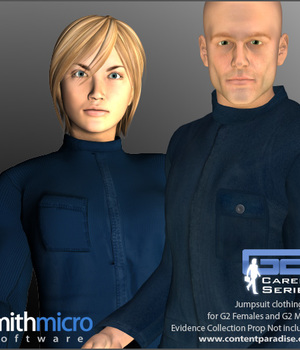 Jumpsuits for the G2 Figures (Career Series) Legacy Discounted Content Smith_Micro