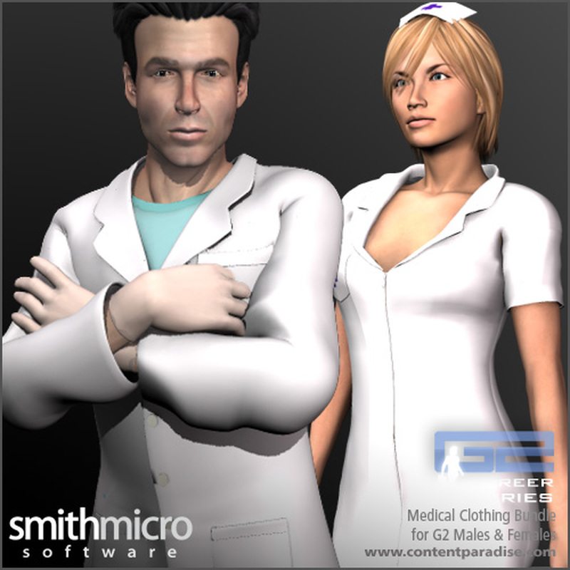Medical Clothing for G2 Figures (Career Series)