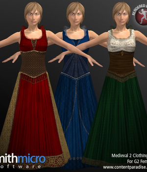 Medieval Clothing Set #2 for G2 Females (Time Travel Series) Legacy Discounted Content Smith_Micro