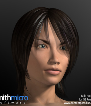 Miki 2.0 Hair Refitted for G2 Females Legacy Discounted Content Poser_Software