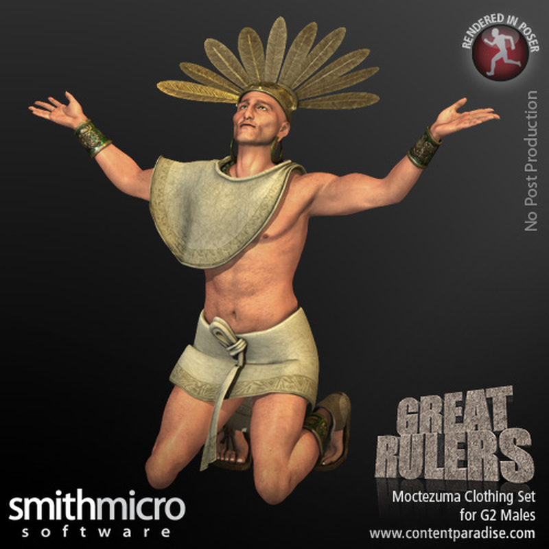 Moctezuma Clothing Set for the G2 Males (Great Rulers)