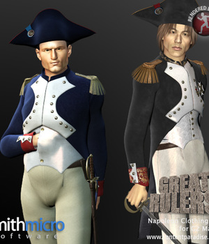 Napoleon Clothing Set for the G2 Males (Great Rulers) Legacy Discounted Content Smith_Micro