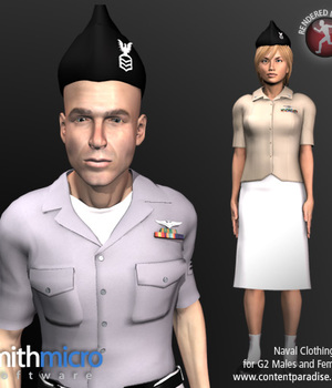 Naval Clothing for G2 Figures (Career Series) Legacy Discounted Content Smith_Micro