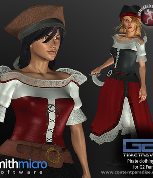 Pirate Clothing Set for G2 Females (Time Travel Series) Legacy Discounted Content Smith_Micro