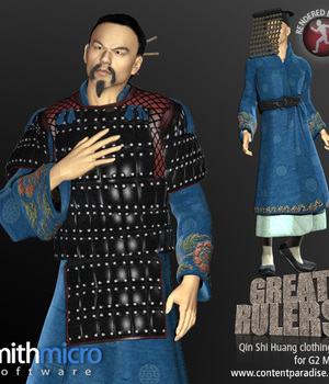 Qin Shi Huang Clothing Set for the G2 Males (Great Rulers) Legacy Discounted Content Poser_Software