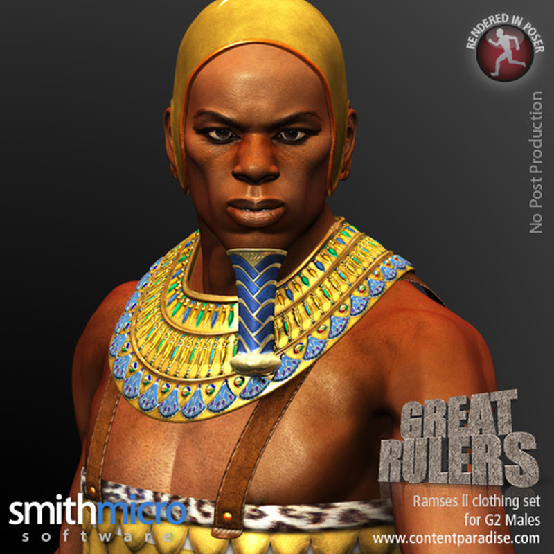 Ramses II Clothing Set for the G2 Males (Great Rulers)