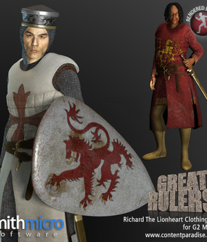 King Richard the Lionhearted Clothing Set for the G2 Males (Great Rulers) Legacy Discounted Content Smith_Micro