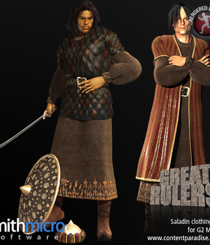 Saladin Clothing Set for the G2 Males (Great Rulers) Legacy Discounted Content Smith_Micro