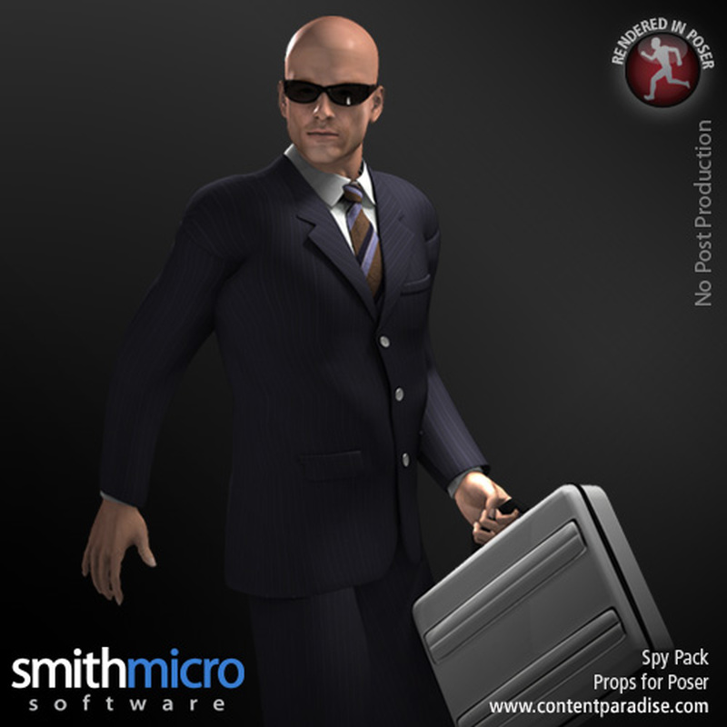 Secret Agent Series Prop Pack by Poser_Software
