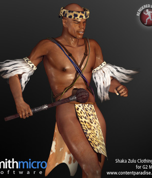 Shaka Zulu Clothing Set for the G2 Males (Great Rulers) Legacy Discounted Content Smith_Micro