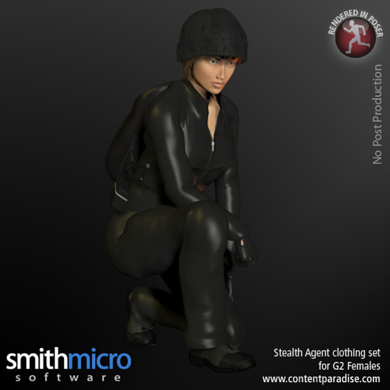 Stealth Agent Clothing Set for G2 Females (Secret Agent Series)