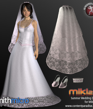 Summer Wedding Dress for Miki 2.0 Legacy Discounted Content Smith_Micro