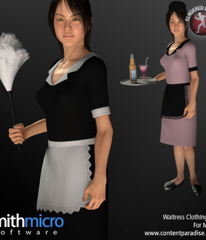 Waitress/Maid Uniform for Miki 2.0 Legacy Discounted Content Smith_Micro