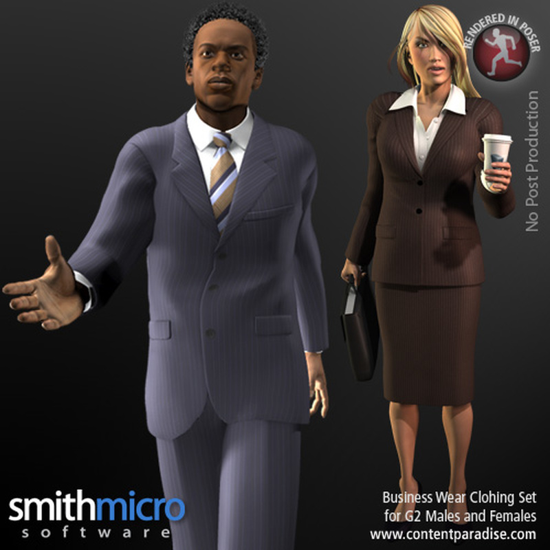 Business Clothing for G2 Figures (Career Series)