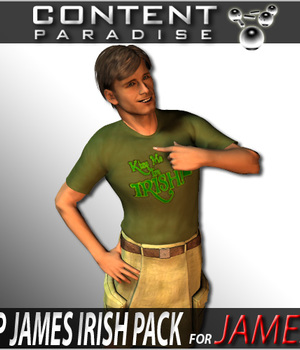 Irish Pack for Poser 6 James Legacy Discounted Content Poser_Software