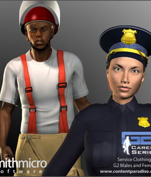 Public Service Clothing for G2 Figures (Career Series) Legacy Discounted Content Smith_Micro