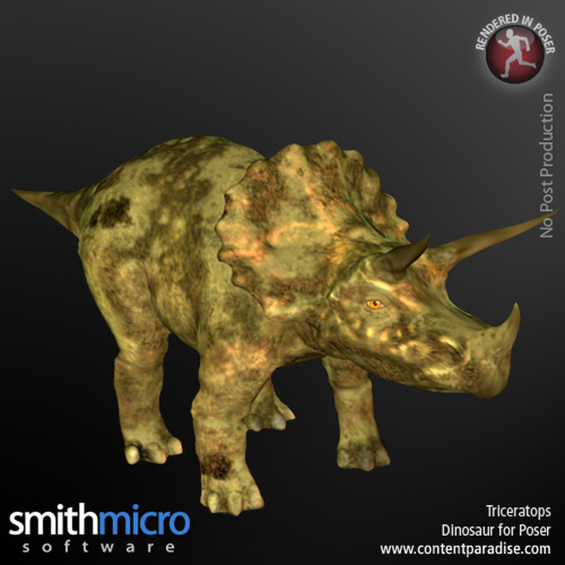 Triceratops by Poser_Software