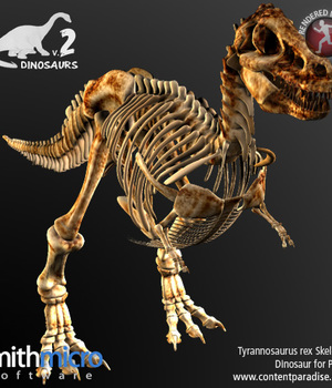 Tyrannosaurus Rex Skeleton Legacy Discounted Content Poser_Software